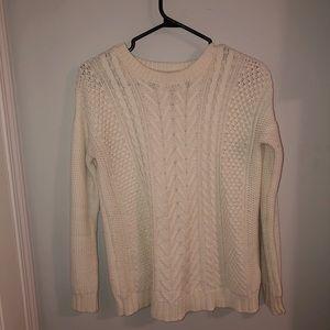 White Knit Sweater- F21
